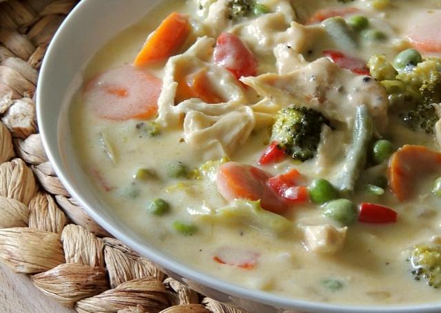 चीज़ और वेजिटेबल सूप रेसपी