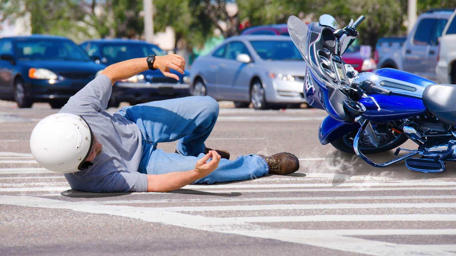 motorbike slipped