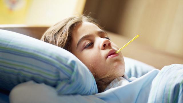 Girl in fever