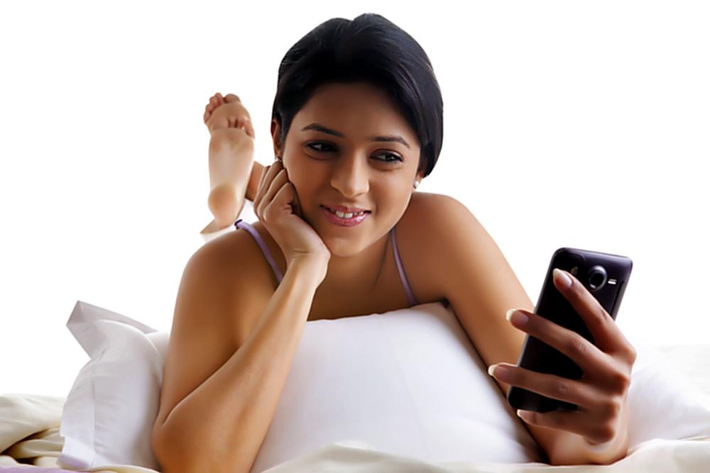 Girl using mobile