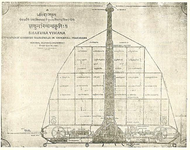 महाभारत काल के विमान की डिज़ाइन