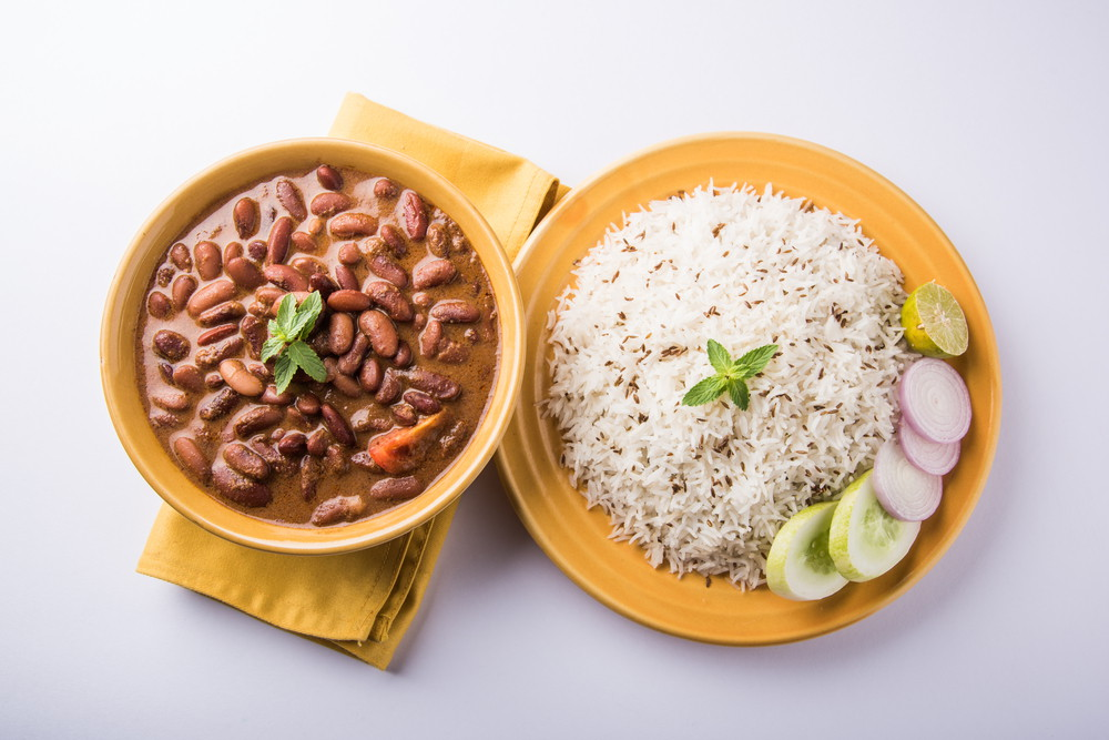 Kidney beans curry rice recipe