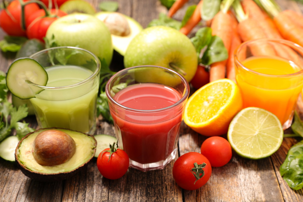 Vegetables fruits juice