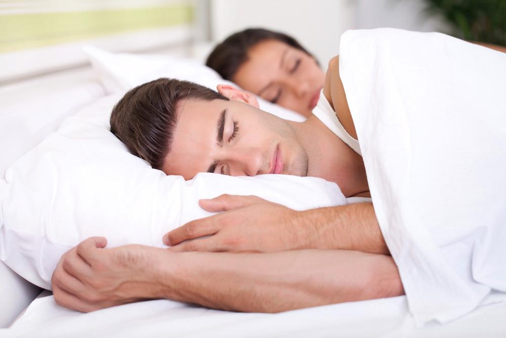 Couple taking peaceful sleep