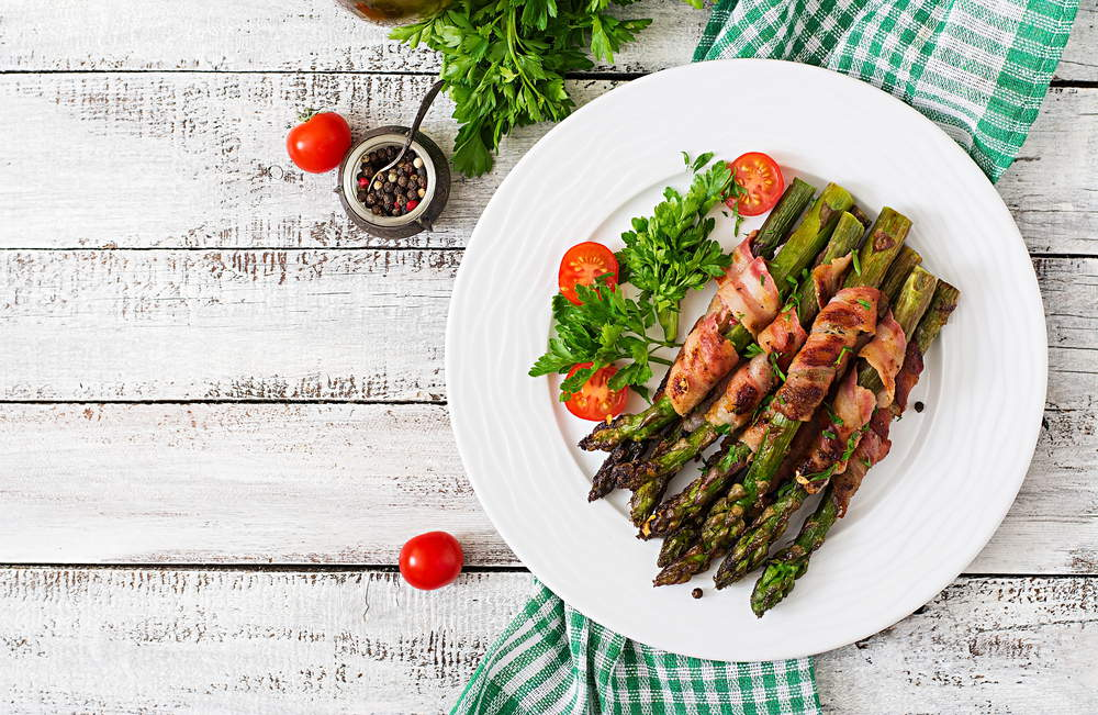 Roasted Purple Asparagus