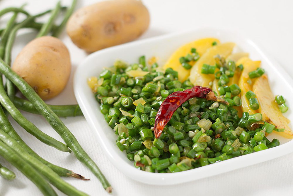 आलू लोबिया की सब्ज़ी